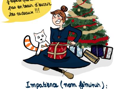 C'est quand qu'on ouvre les cadeaux - Illustration by Drawingsandthings