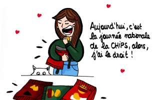 Journée nationale de la chips - Illustration by Drawingsandthings
