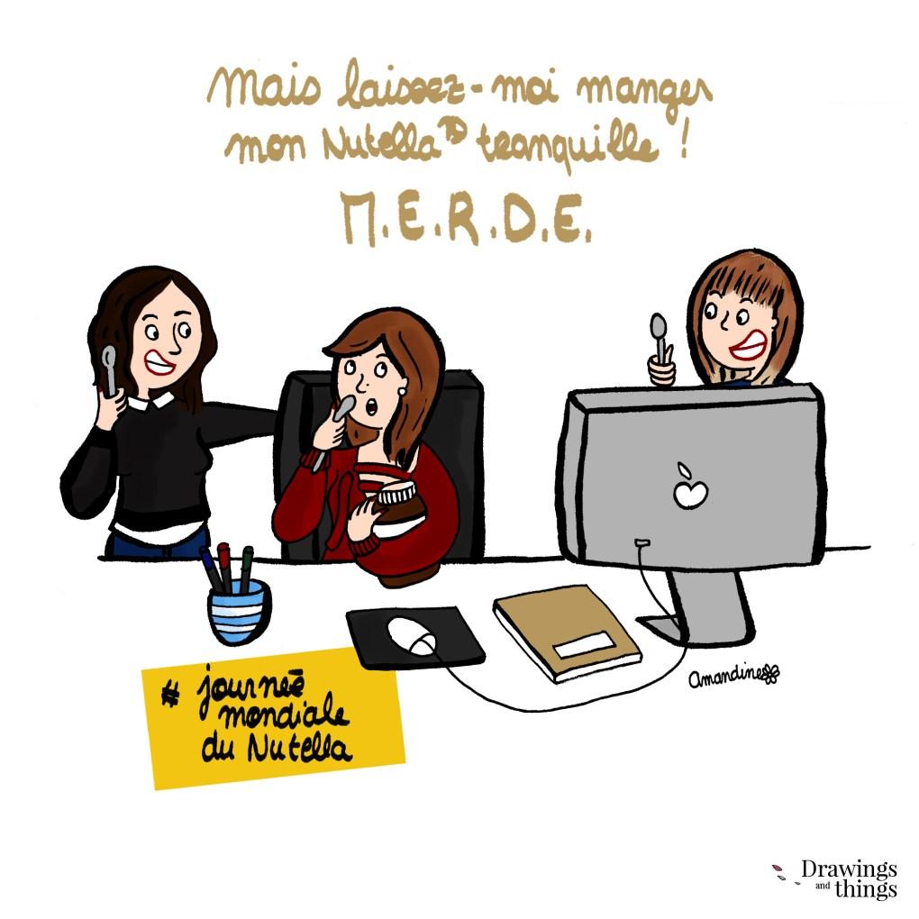 la journée du nutella -  Illustration by Drawingsandthings
