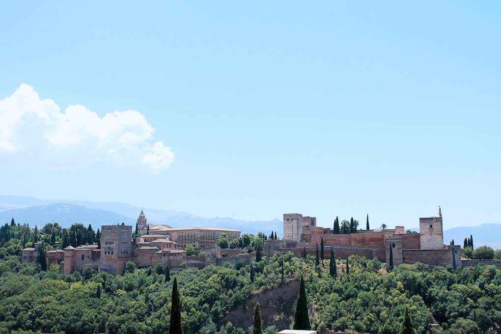 Vue Alhambra - place st nicolas - Andalousie by Drawingsandthings