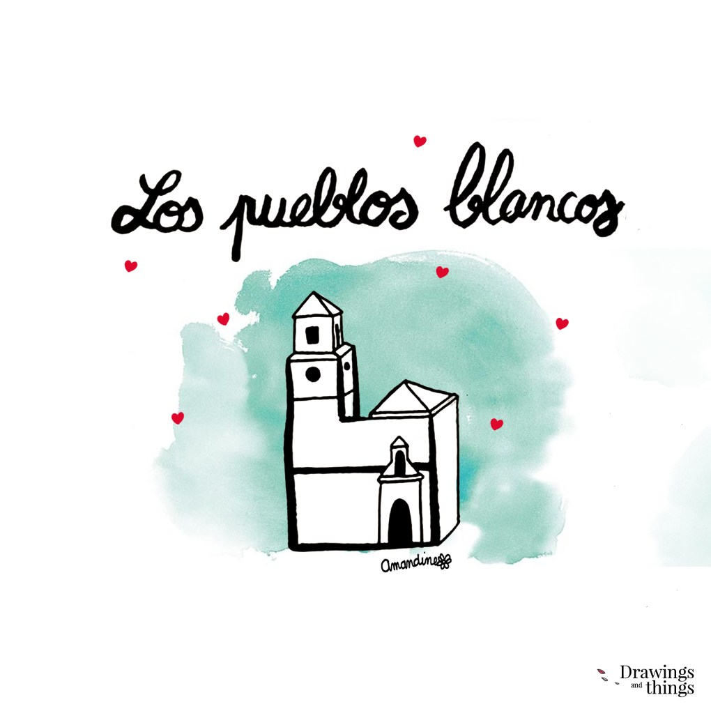 Pueblos blancos - Andalousie by Drawingsandthings