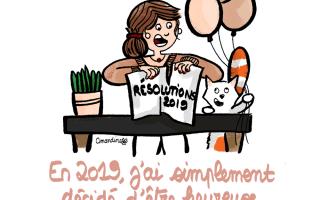 Découvrez mes Résolutions-2019 pour cette nouvelle année Illustration by Drawingsandthings
