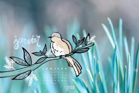 Téléchargez gratuitement un fond d'écran sur le blog de Drawingsandthings -Janvier 2019