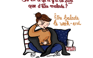 Qu'est ce qu'il y a de pire que d'être malade ? Etre malade le week-end - Illustration-by-Drawingsandthings