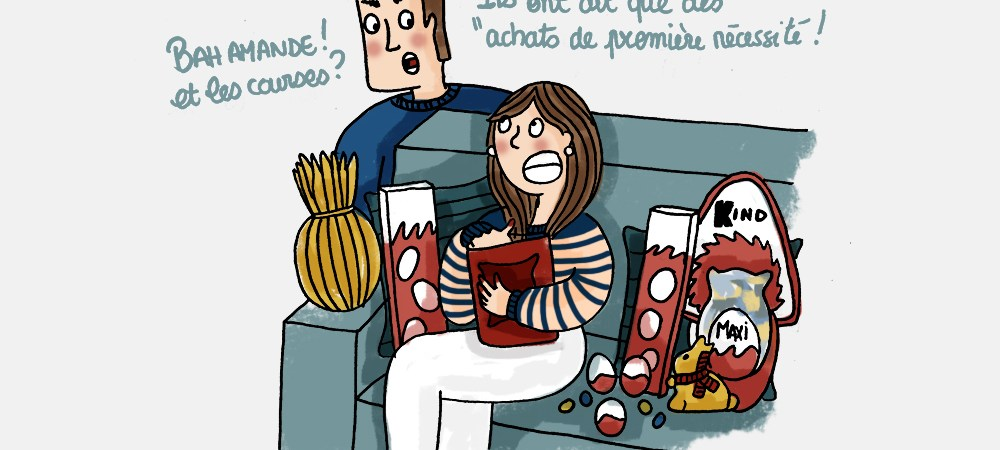Chocolat-premiere-necessite-Confinement-Illustration-by-Drawingsandthings