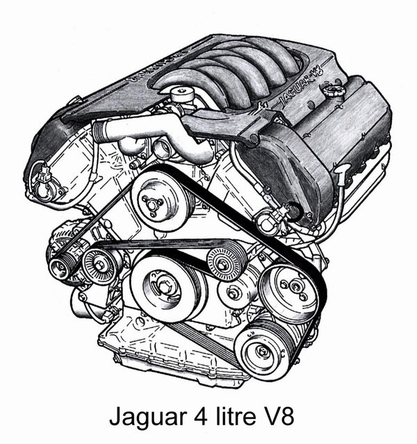 Engine Drawing, Pencil, Sketch, Colorful, Realistic Art