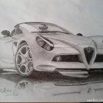 Alfa Romeo Drawing Pencil Sketch Colorful Realistic Art Images Drawing Skill