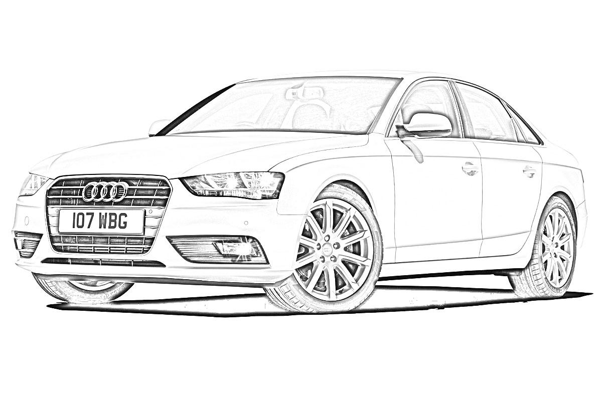 Audi Drawing, Pencil, Sketch, Colorful, Realistic Art