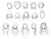 hairstyle drawing pencil sketch