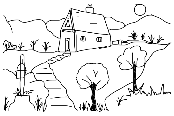 Drawings House For Kids