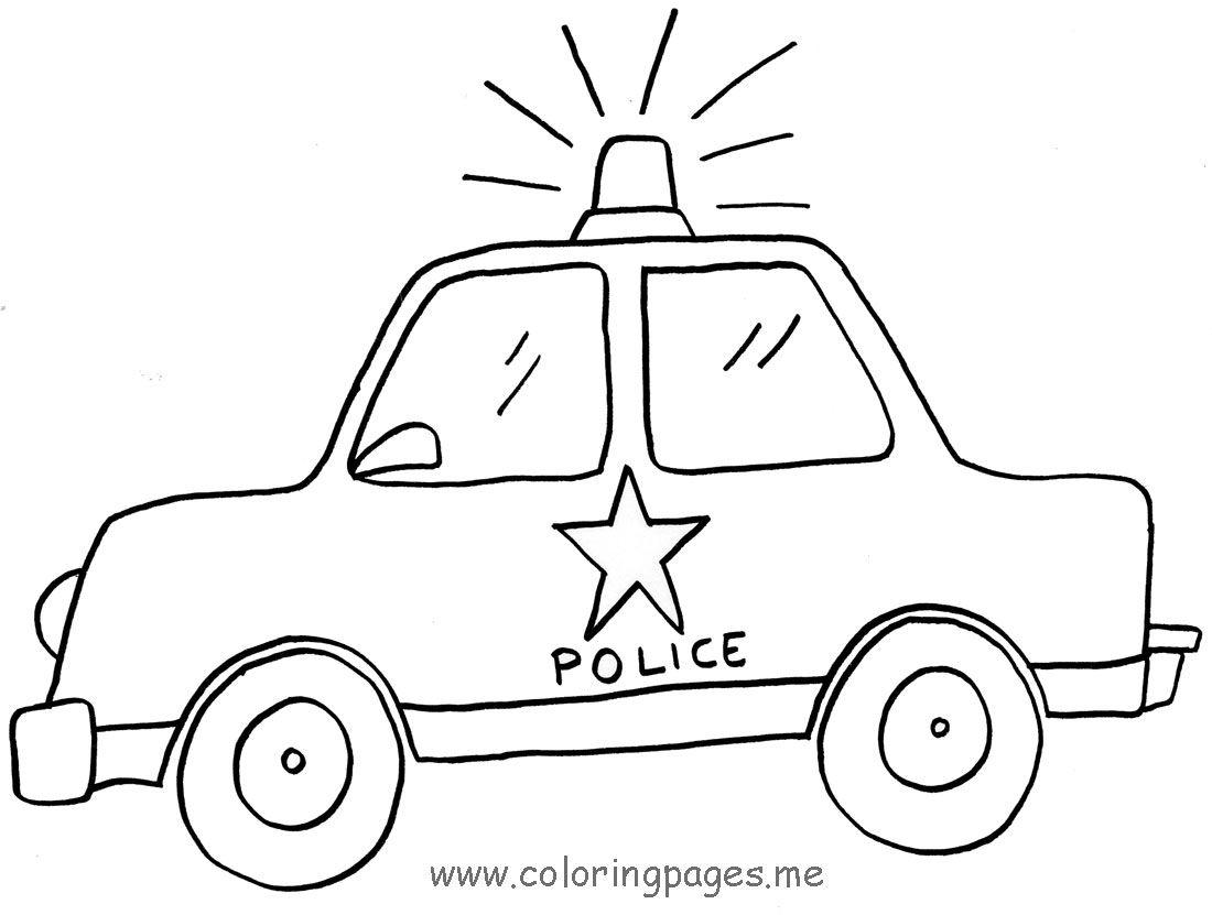Police Car Drawing Pics