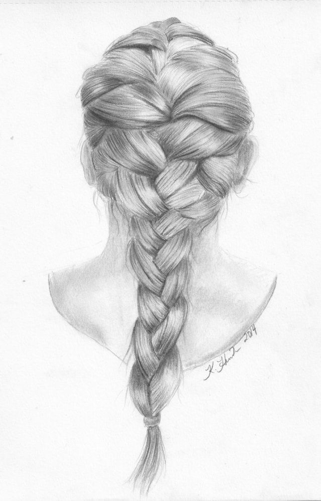 hairstyle drawing, pencil, sketch, colorful, realistic art