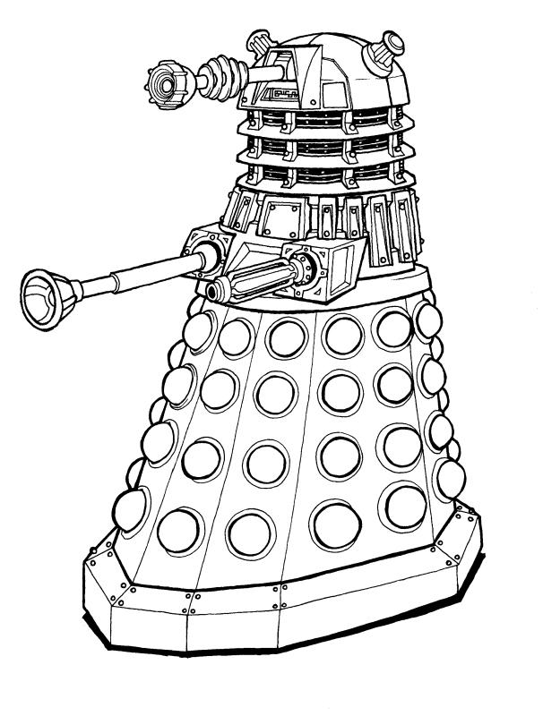 Dalek Drawing, Pencil, Sketch, Colorful, Realistic Art