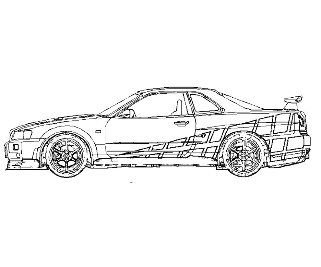 Fast And Furious Drawing Pencil Sketch Colorful