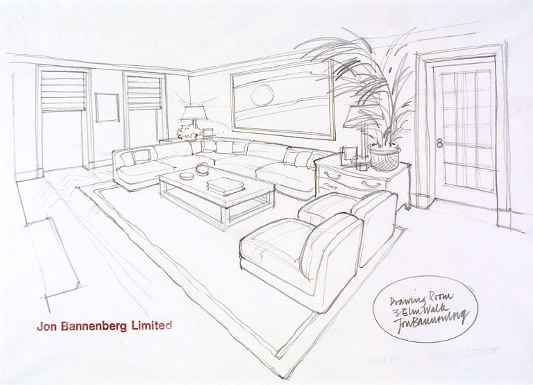 Bedroom Design Drawing Sketch Drawing Skill