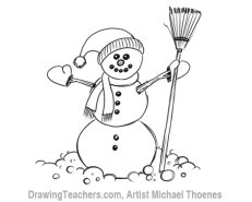 How to Draw a Snowman