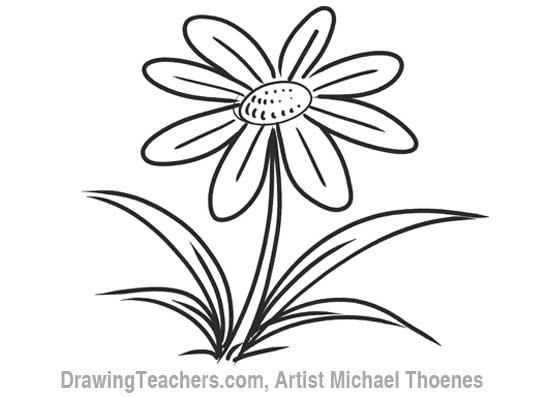 cartoon flower how to