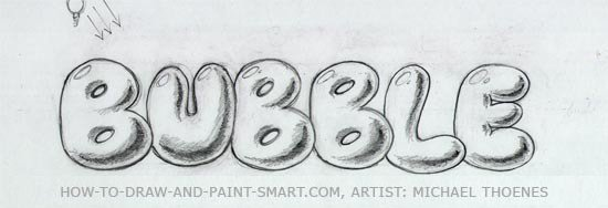 How to Draw Bubble Letters