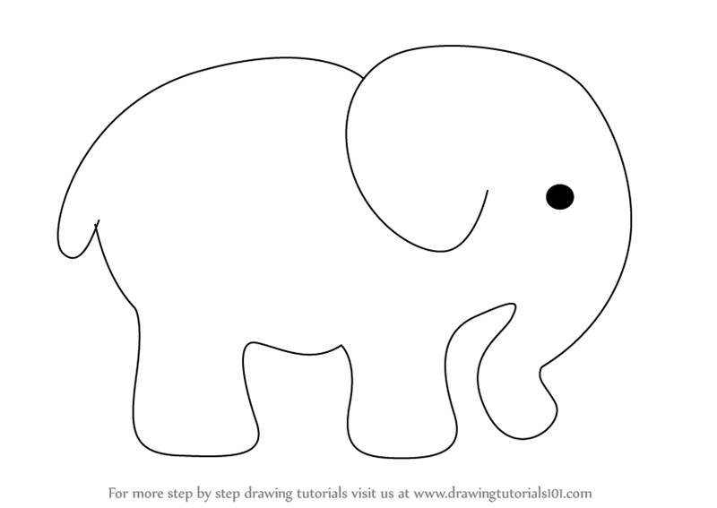Learn How To Draw An Elephant For Kids Zoo Animals Step By Step Drawing Tutorials