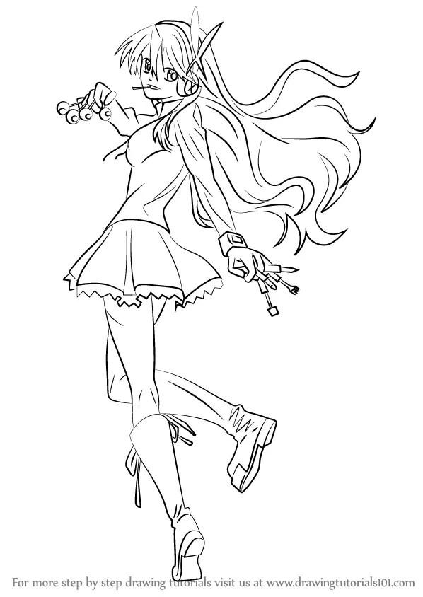 Learn How to Draw Chelsea from Akame ga Kill! (Akame Ga