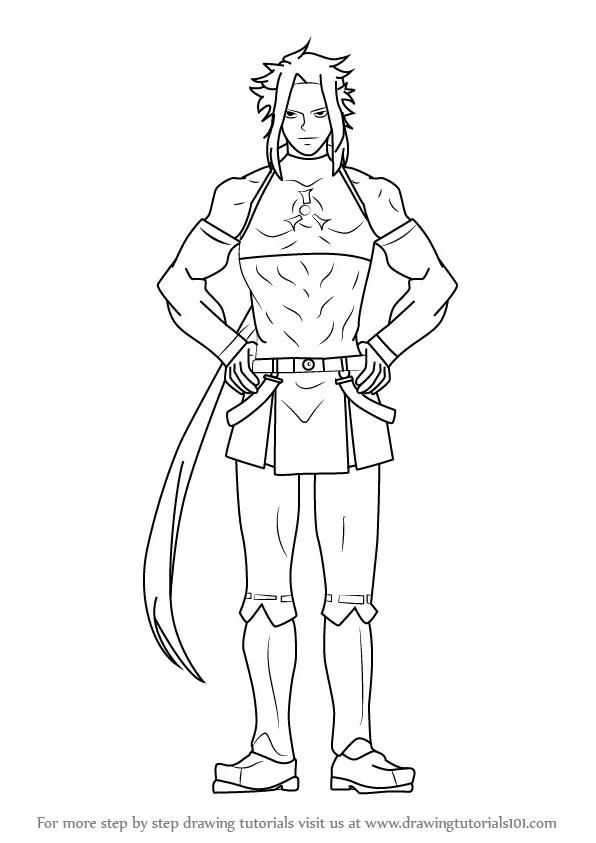 Learn How to Draw Syura from Akame Ga Kill (Akame Ga Kill
