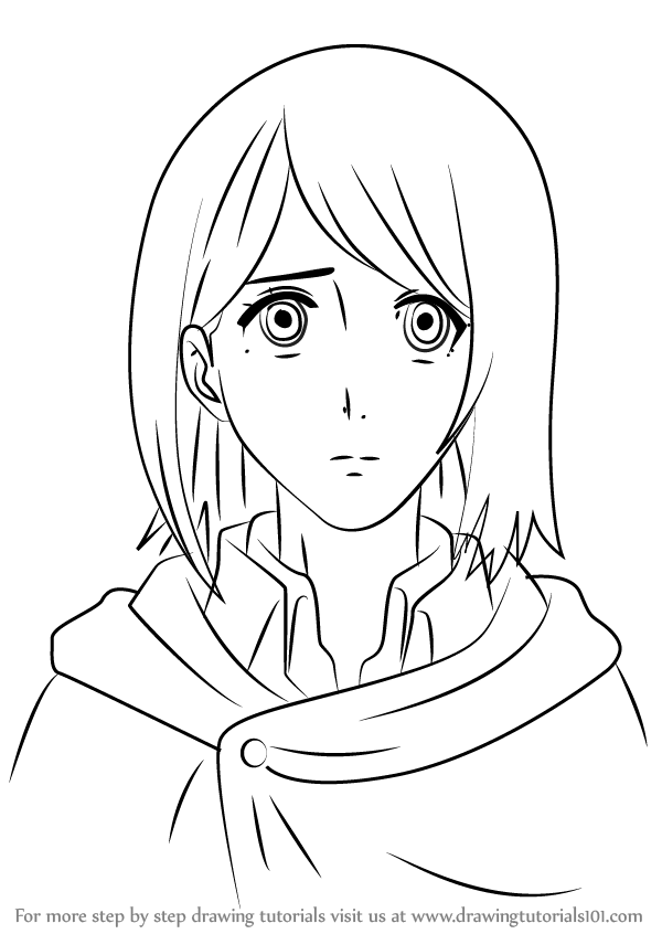 Learn How to Draw Petra Ral from Attack on Titan (Attack