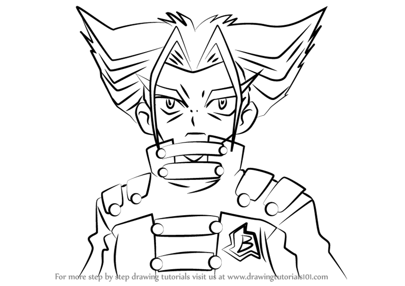 Learn How To Draw Tala From Beyblade Beyblade Step By