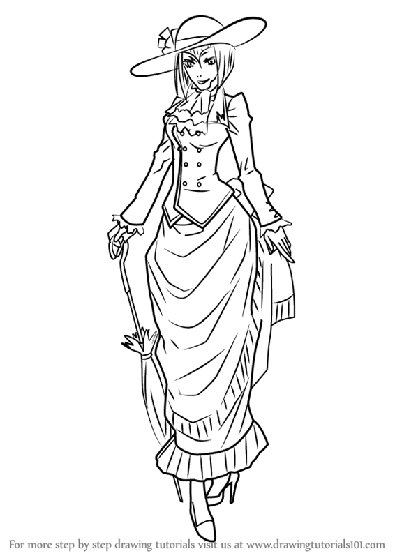Learn How to Draw Madame Red from Black Butler (Black
