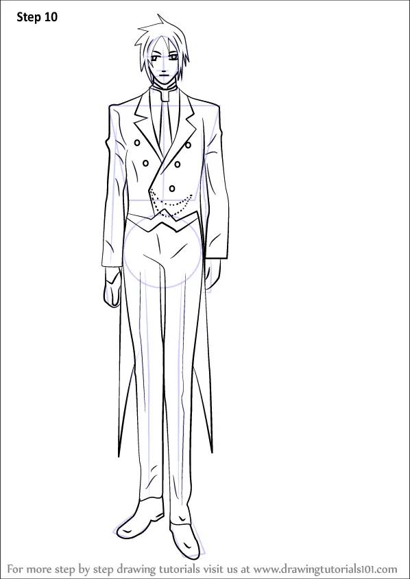 Butler Drawing Cool Black Sebastian