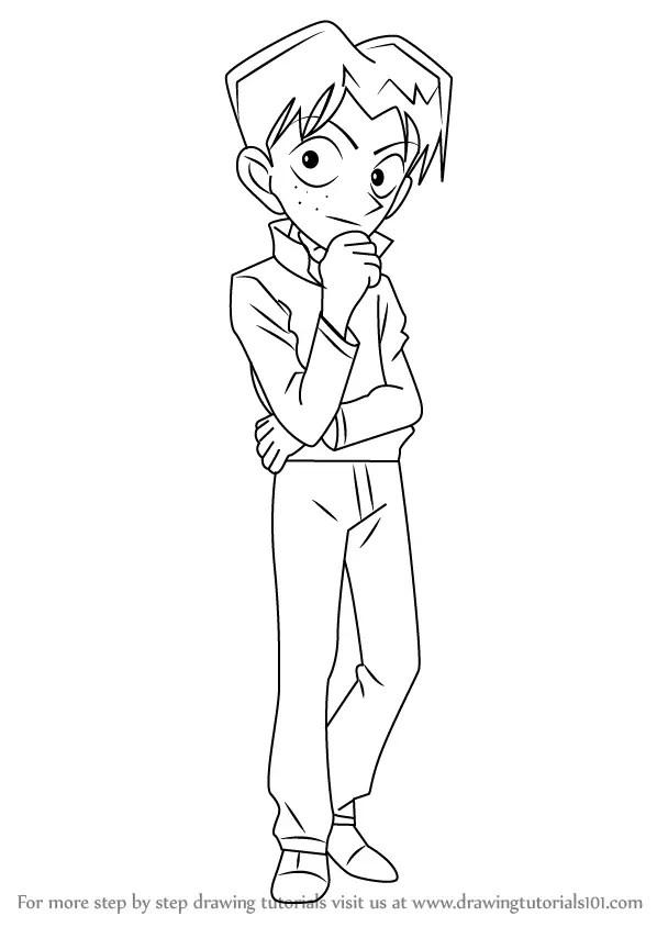Learn How to Draw Mitsuhiko Tsuburaya from Detective Conan