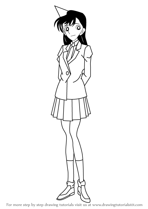 How To Draw Ran From Detective Conan