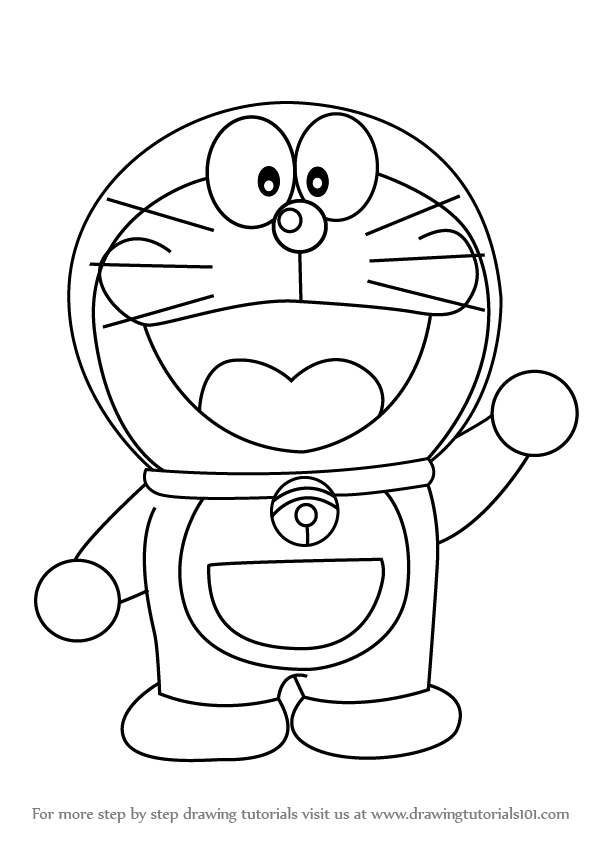 Learn How to Draw Doraemon (Doraemon) Step by Step