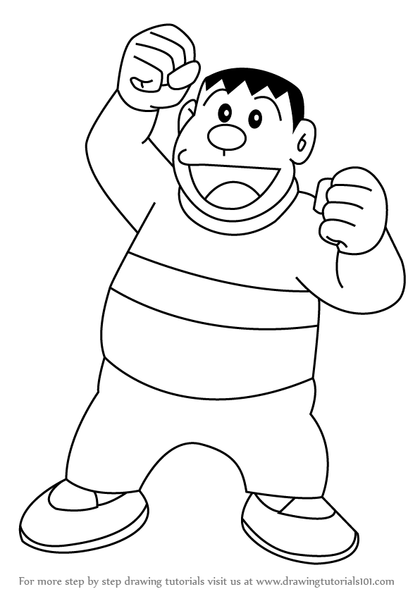 Doraemon All Characters Pencil Drawing Images