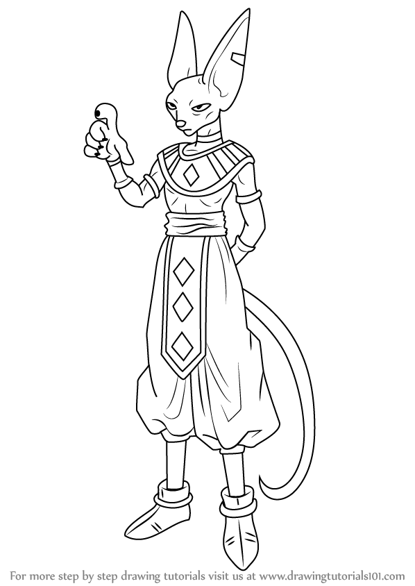 Learn How to Draw Beerus from Dragon Ball Z (Dragon Ball Z