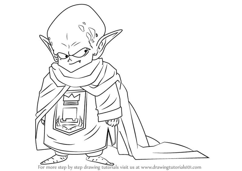 Learn How to Draw Garlic Jr. from Dragon Ball Z (Dragon