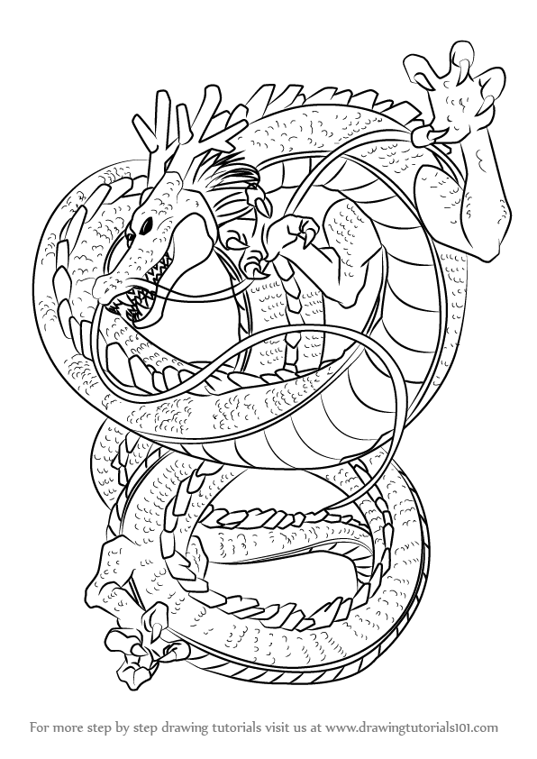 How To Draw Shenron