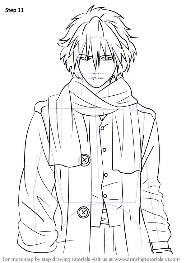 Step by Step How to Draw Clear from Dramatical Murder