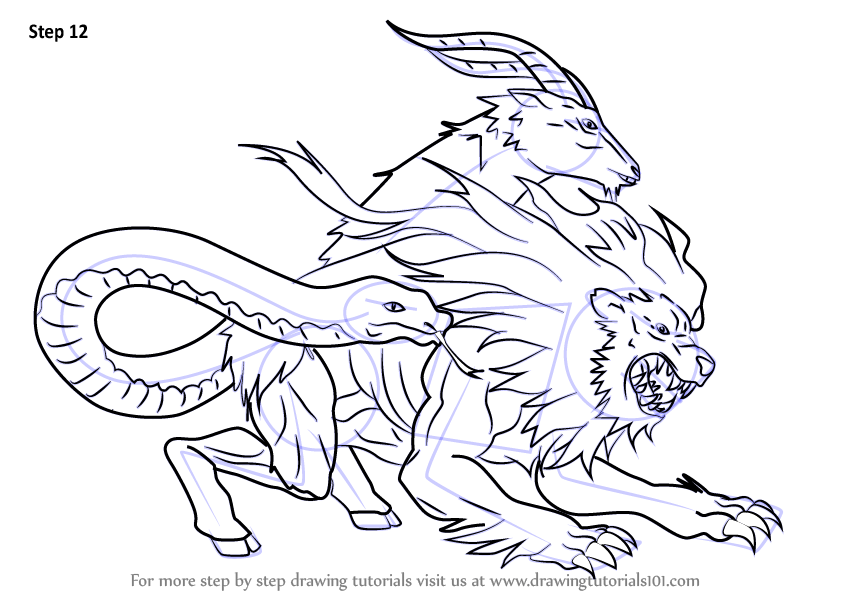 Learn How To Draw Chimera From Fate Grand Order Fate