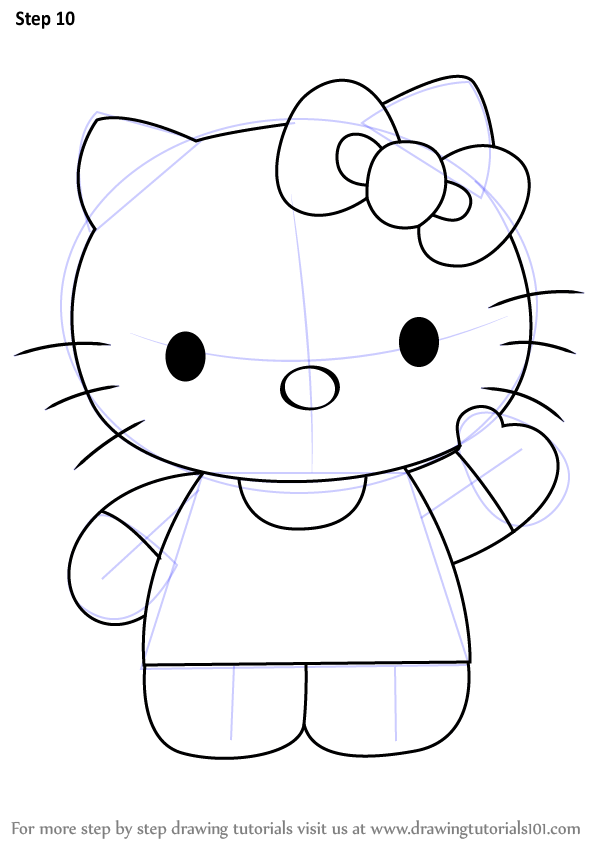 Learn How to draw Hello Kitty (Hello Kitty) Step by Step