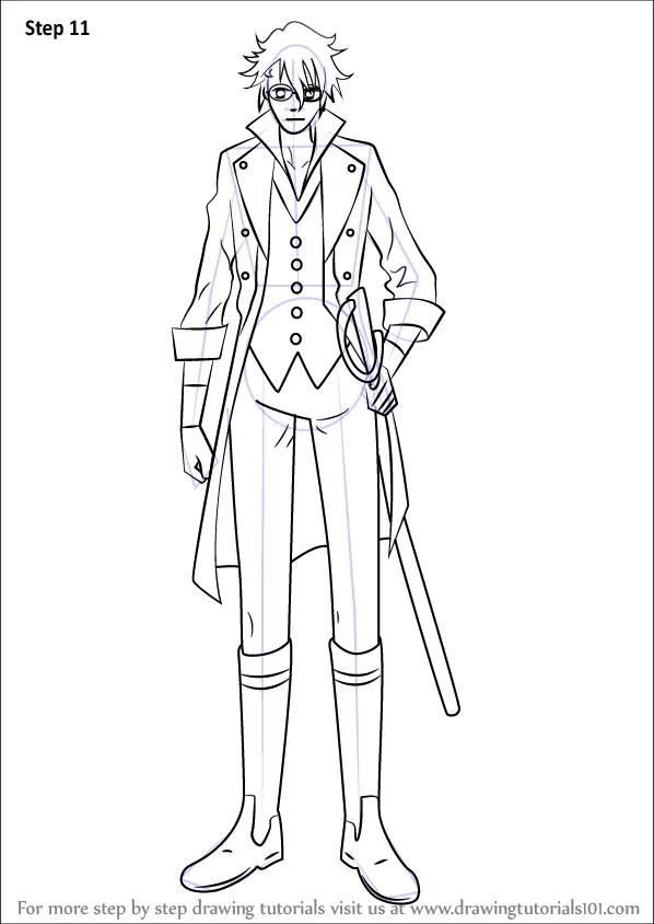 Learn How to Draw Saruhiko Fushimi from K Project (K