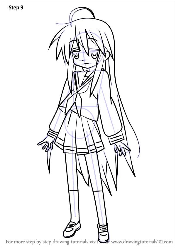 Learn How to Draw Konata Izumi from Lucky Star (Lucky Star