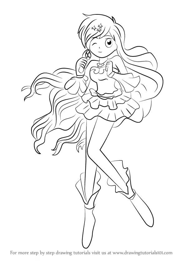 Manga Mermaid Coloring Pages