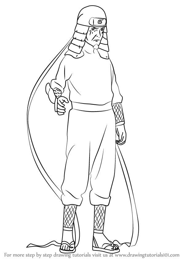 Learn How to Draw Hiruzen Sarutobi from Naruto (Naruto
