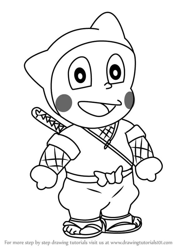 Learn How To Draw Mrs Mitsuba From Ninja Hattori Ninja