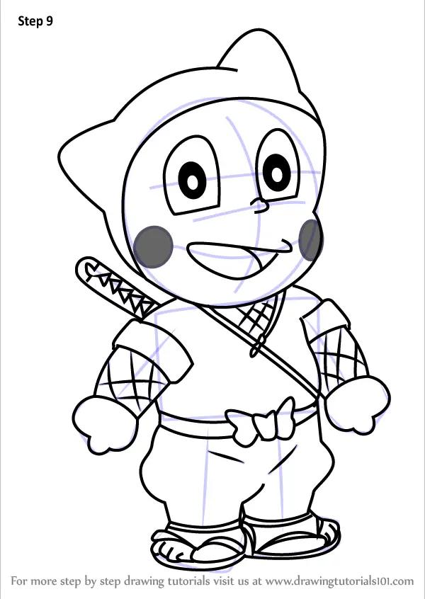 Learn How To Draw Ninja Hattori
