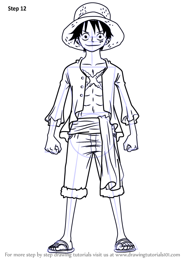 Learn How to Draw Monkey D. Luffy Full Body from One Piece