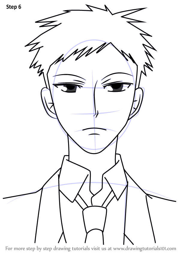 Learn How to Draw Mori from Ouran High School Host Club