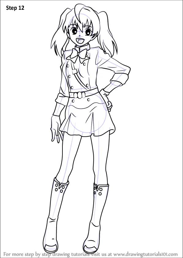 Learn How To Draw Mitsuba Sangu From Owari No Seraph