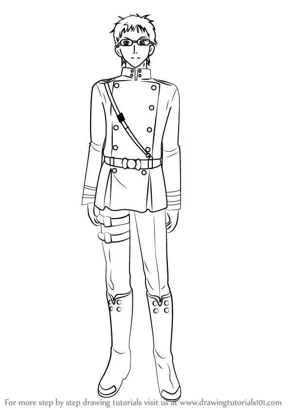 Learn How to Draw Shiho Kimizuki from Owari no Seraph