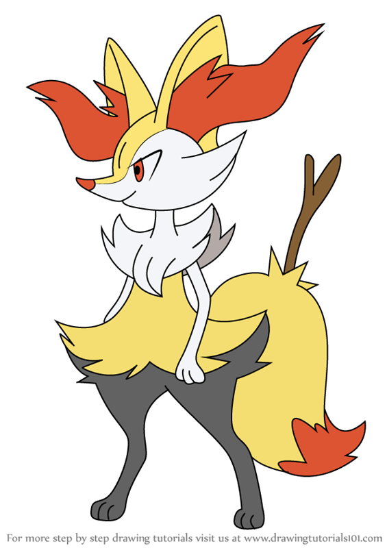 Drawing Braixen Of The Pokemon Coloring Page